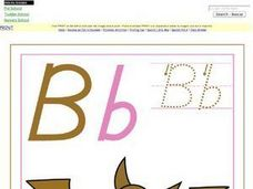 The Letter Bb Poster Worksheet