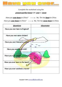 Have You Ever...? Worksheet