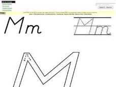 Printing Letter Mm Worksheet