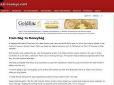 From Nag to Moneybag Worksheet