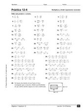 Multiply and Divide Rational Expressions Worksheet