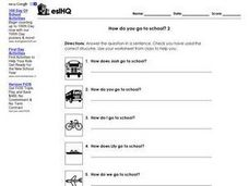 "ESL ""How Do You Go To School?"" 2 Worksheet"