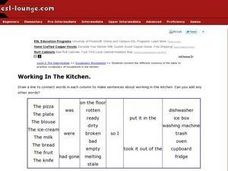 Esl Pre-intermediate Vocabulary Worksheets- Working in the Kitchen Worksheet