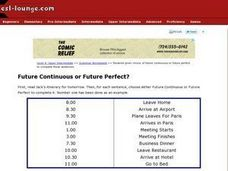 Future Continuous or Future Perfect? Worksheet