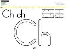 Tracing Letters Ch Worksheet