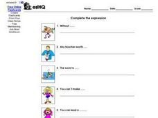 Complete the Expression Worksheet