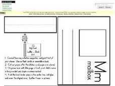 Letter M Words: Definitions and Illustrations for Mini Book Worksheet