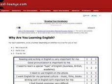 Why Are You Learning English? Worksheet