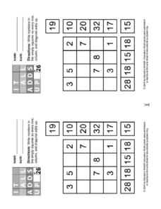 It All Adds Up Puzzle #26 Worksheet