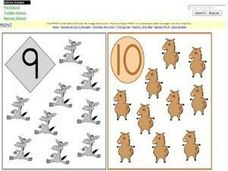 9, 10, 11, 12 Picture/ Number Cards Worksheet