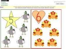 Number Recognition 5,6,7,8 Worksheet