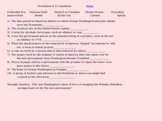 Worksheet #51 Questions - Early American Government Worksheet