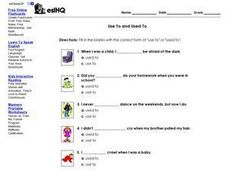 ESL: Use To and Used To Worksheet