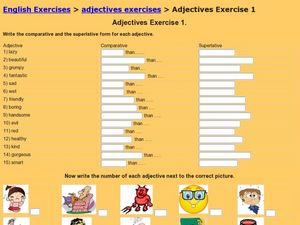 ESL Adjectives Worksheet