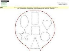 Geometric Shapes Hot Air Balloon Worksheet