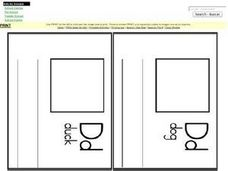 Alphabet Letter D Flash Cards Worksheet