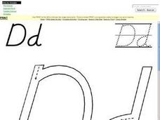 Printing Letter D Worksheet