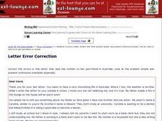 Letter Error Correction Worksheet