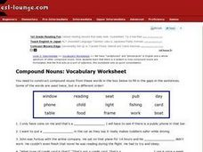 Compound Nouns: Vocabulary Worksheet Worksheet