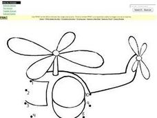Helicopter Dot-to-Dot Worksheet
