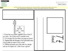 My First Letter T Book Worksheet
