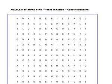 Ideas in Action Word Search Worksheet