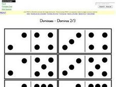 Dominoes--Dominos 2/3 Worksheet