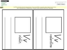 Vv Mini Book Worksheet