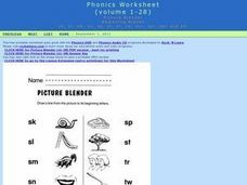 Picture Blender- Beginning Blends Worksheet