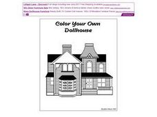 Color Your Own Dollhouse Worksheet
