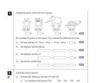 Pence and Estimation Worksheet