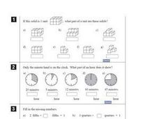 Fractional Units Worksheet