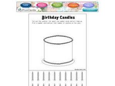 Birthday Candles Worksheet