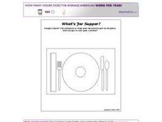 What's For Supper? Worksheet