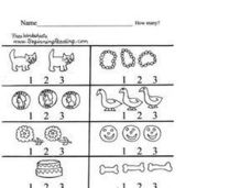 How Many? Counting Objects Up to 3 Lesson Plan