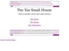 The Too Small House: Story and Craft Activity Worksheet