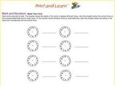 Blank Time Clock- Open Worksheet Worksheet