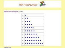 Math And Numbers:  Counting Worksheet
