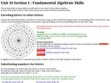 Fundamental Algebraic Skills Worksheet