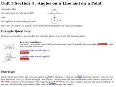 Angles on a Line and on a Point Worksheet