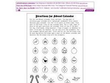 Directions for Making an Advent Calendar Worksheet