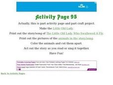 """The Little Old Lady Who Swallowed a Fly"" Worksheet"