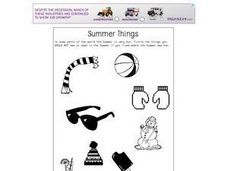 Summer Things Worksheet
