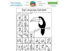 Sign Language Alphabet Worksheet