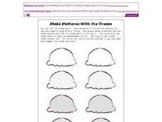 Make Patterns With Ice Cream Worksheet
