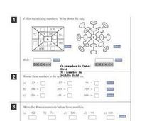 Math Review: Estimation, Missing Numbers, Precise Calculations Worksheet