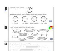Online Clock Exercises Worksheet