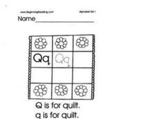 Alphabet Letter Q Lesson Plan