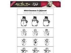 Which Snowman is Different Worksheet