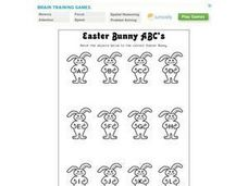Easter Bunny ABC's Worksheet